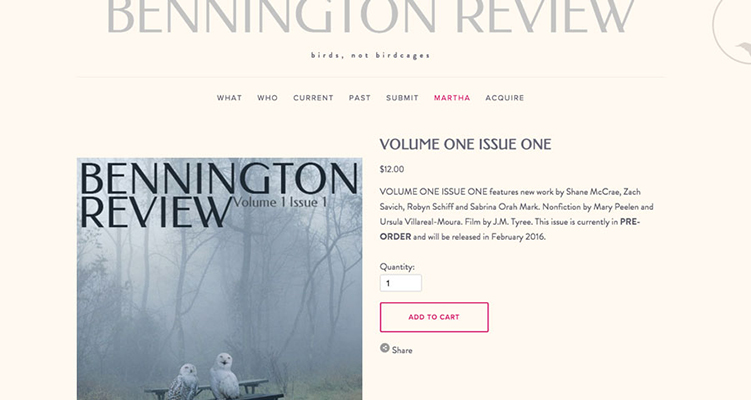 The Bennington Review